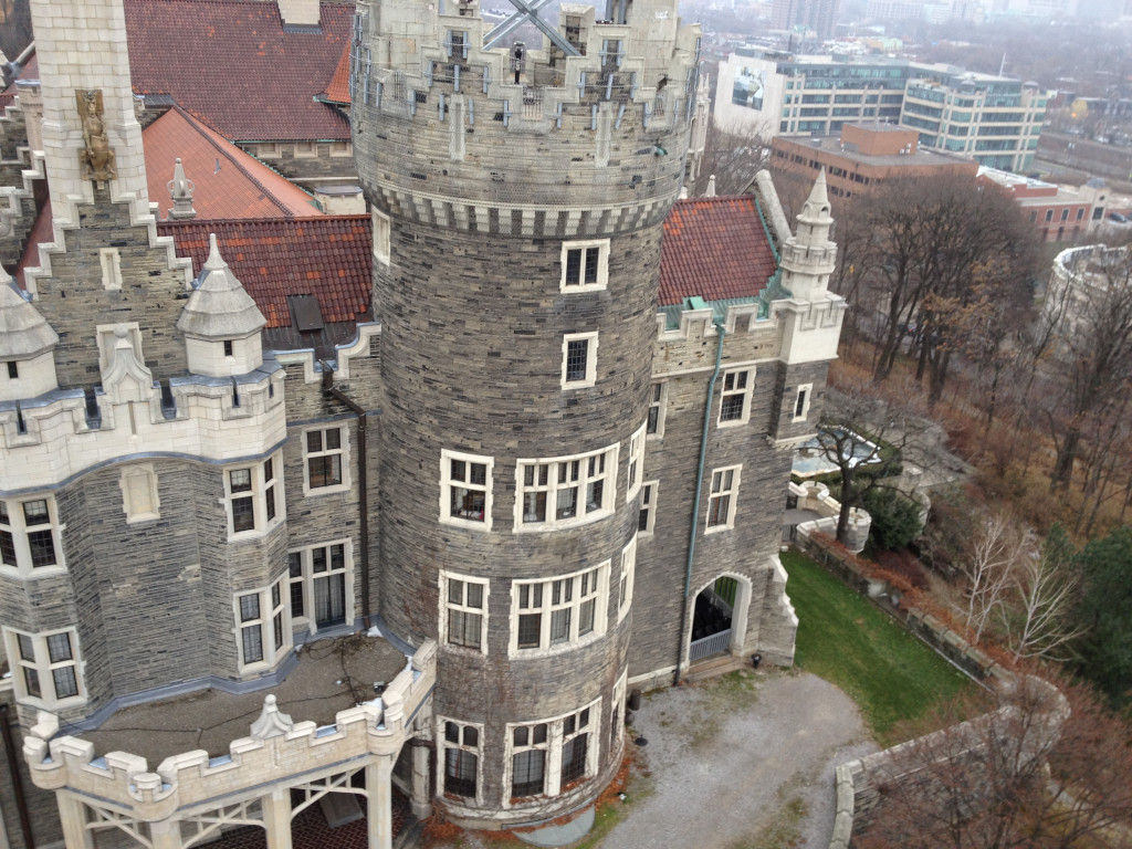 Casa Loma as seen from a kite
